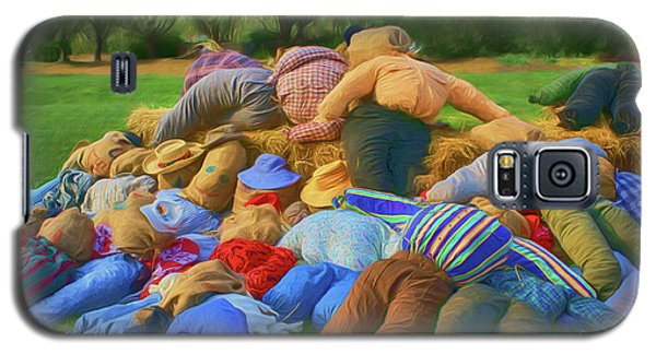 Galaxy S5 Case featuring the photograph Heap Of Scarecrows by Nikolyn McDonald