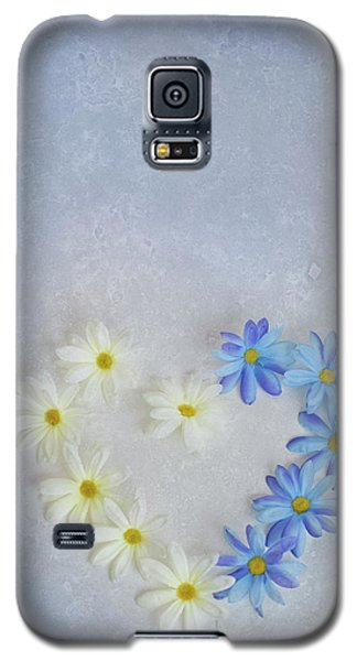 Heart And Flowers Galaxy S5 Case