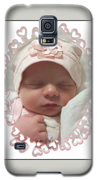 Heart Border On Newborn Girl Galaxy S5 Case