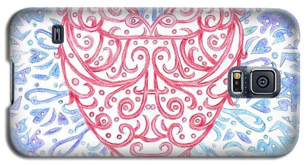 Heart In A Snowflake II Galaxy S5 Case