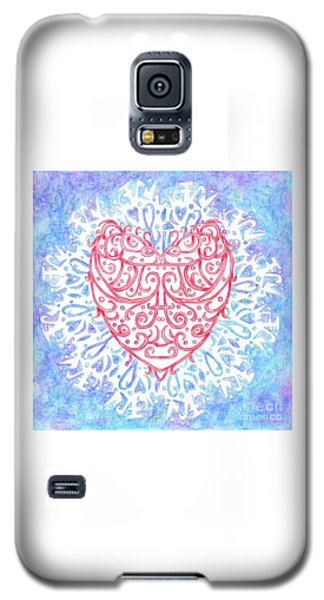 Heart In A Snowflake II Galaxy S5 Case