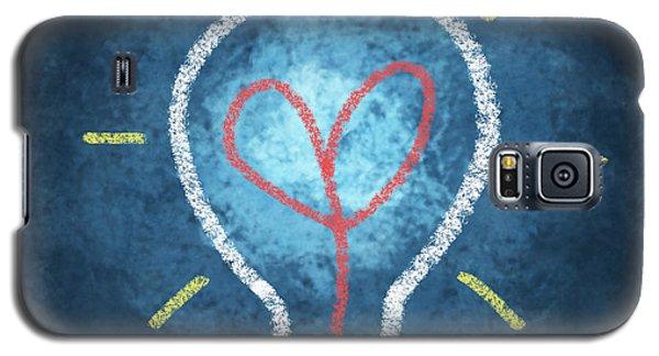 Heart In Light Bulb Galaxy S5 Case by Setsiri Silapasuwanchai