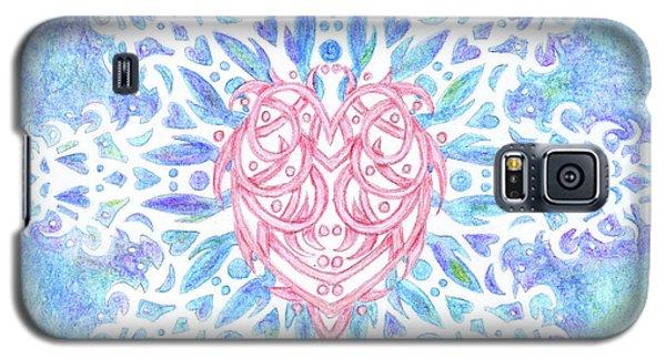 Heart In Snowflake Galaxy S5 Case