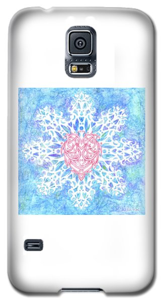 Heart In Snowflake Galaxy S5 Case