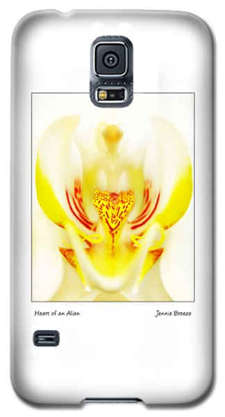 Galaxy S5 Case featuring the photograph Heart Of An Alien by Jennie Breeze