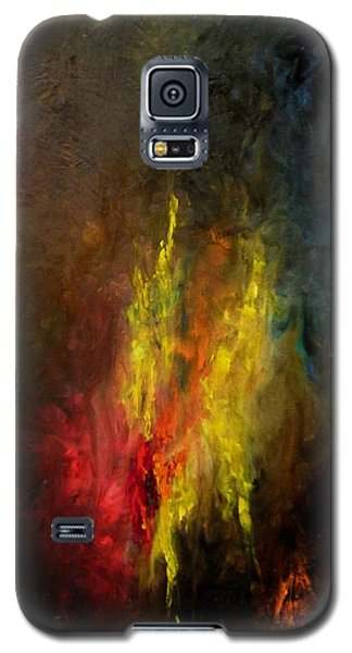 Galaxy S5 Case featuring the painting Heart Of Art by Rushan Ruzaick