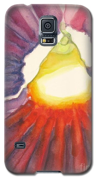 Galaxy S5 Case featuring the painting Heart Of The Flower by Inese Poga
