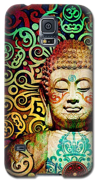 Heart Of Transcendence - Colorful Tribal Buddha Galaxy S5 Case