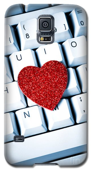 Heart On Keyboard Galaxy S5 Case