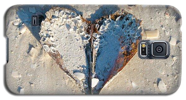 Heart On The Beach Galaxy S5 Case