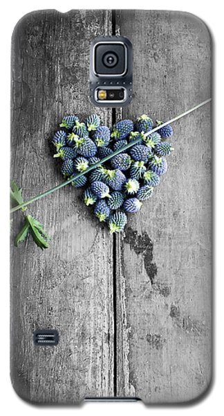 Heart Shaped Blue Thistle Buds With Arrow Stem Galaxy S5 Case