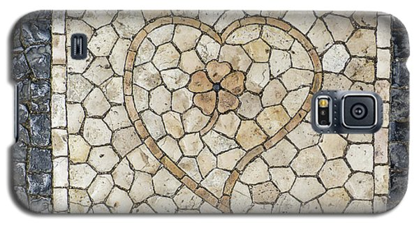 Heart Shaped Traditional Portuguese Pavement Galaxy S5 Case