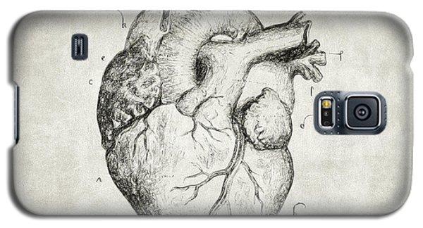 Heart Galaxy S5 Case by Taylan Apukovska
