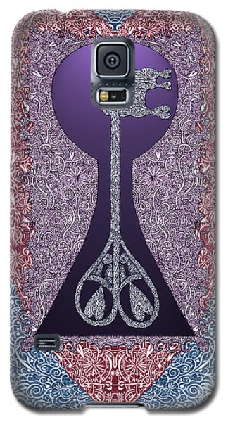 Heart With Lock And Skeleton Key Galaxy S5 Case