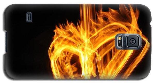 Hearts Aflame -falling In Love Galaxy S5 Case