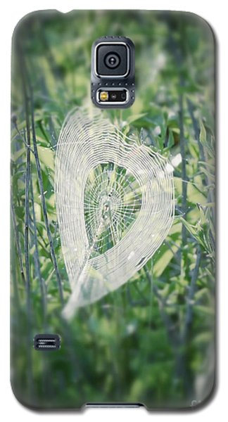 Hearts In Nature - Heart Shaped Web Galaxy S5 Case
