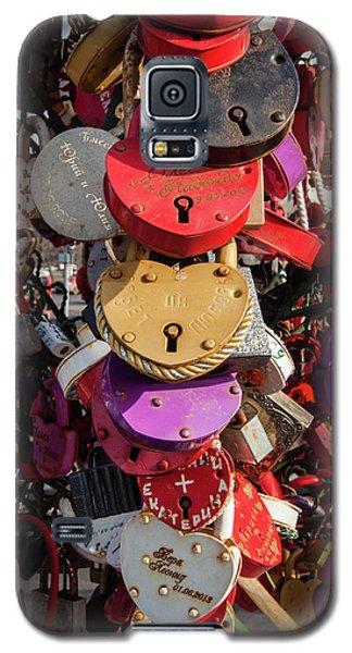 Hearts Locked In Love Galaxy S5 Case