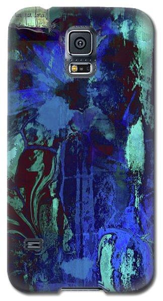 Red Heart- Blue Flowers Galaxy S5 Case
