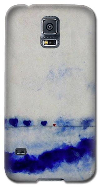 Galaxy S5 Case featuring the painting Hearts On A Wire by Kim Nelson