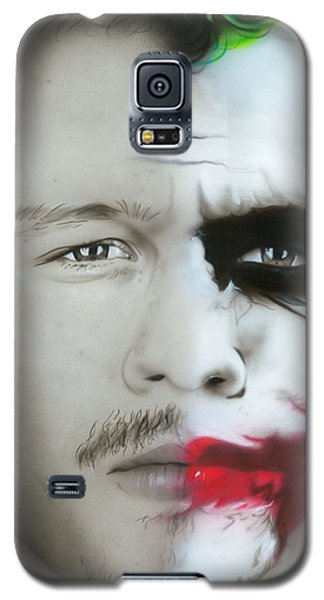 Heath Ledger Galaxy S5 Case - Heath Ledger / Joker by Christian Chapman Art