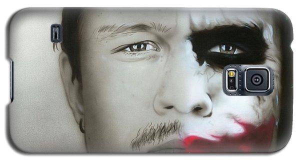 ' Heath Ledger / Joker ' Galaxy S5 Case by Christian Chapman Art