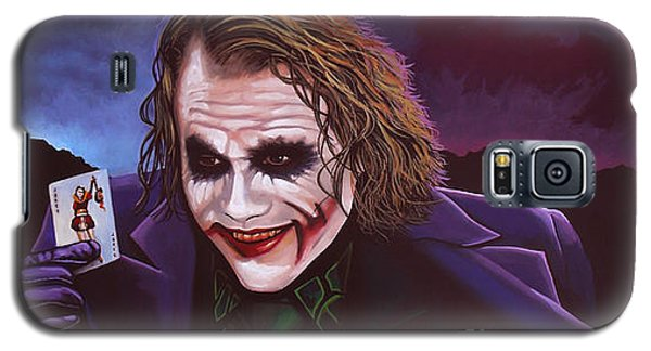 Heath Ledger As The Joker Painting Galaxy S5 Case by Paul Meijering