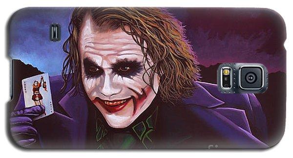 Knight Galaxy S5 Case - Heath Ledger As The Joker Painting by Paul Meijering