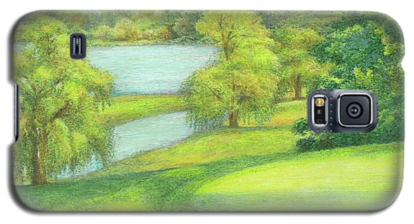 Heavenly Golf Day Landscape Galaxy S5 Case by Judith Cheng