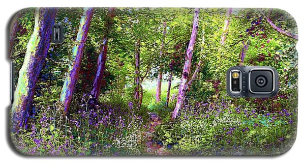 Galaxy S5 Case featuring the painting Heavenly Walk Among Birch And Aspen by Jane Small