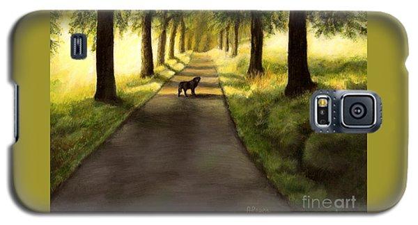Serenity - Walk With Black Labrador Galaxy S5 Case