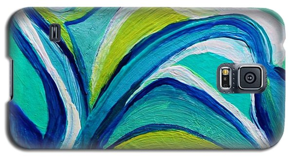 Galaxy S5 Case featuring the painting Heavy Bud by Polly Castor