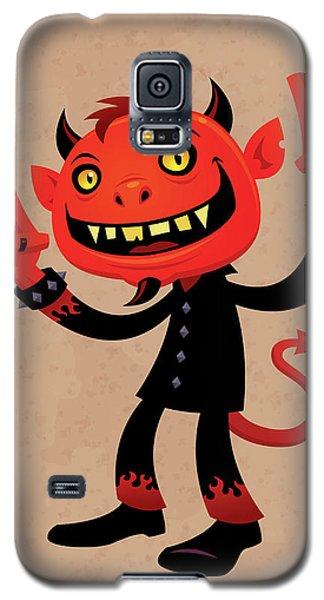Music Galaxy S5 Case - Heavy Metal Devil by John Schwegel