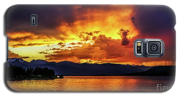Hebgen Lake Sunset Galaxy S5 Case