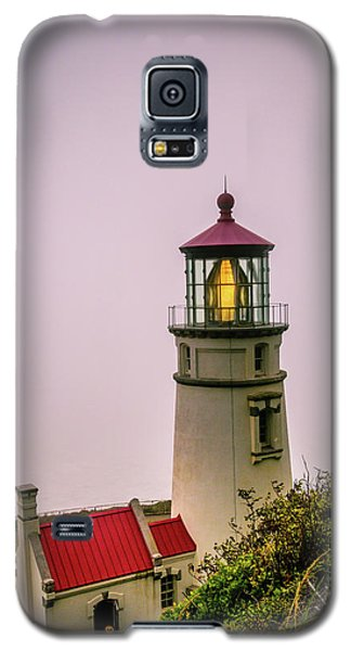 Heceta Head Lighthouse In The Fog Galaxy S5 Case
