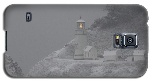 Heceta Lighthouse Snowstorm Galaxy S5 Case by Kenny Henson
