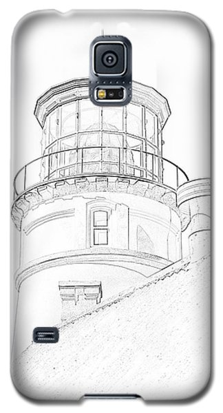 Galaxy S5 Case featuring the photograph Hecitia Head Lighthouse Sketch by Jeffrey Jensen