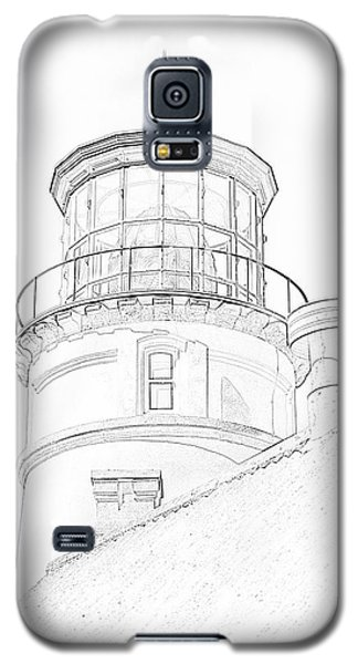 Hecitia Head Lighthouse Sketch Galaxy S5 Case