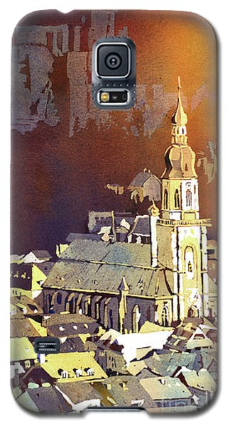 Galaxy S5 Case featuring the painting Heidelberg Sunset- Germany by Ryan Fox