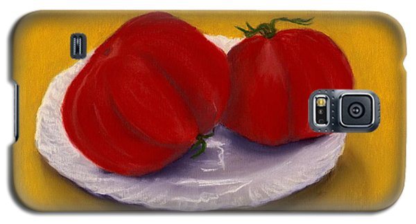Galaxy S5 Case featuring the drawing Heirloom Tomatoes by Anastasiya Malakhova