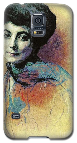 Galaxy S5 Case featuring the painting Helena Roerich by Pg Reproductions
