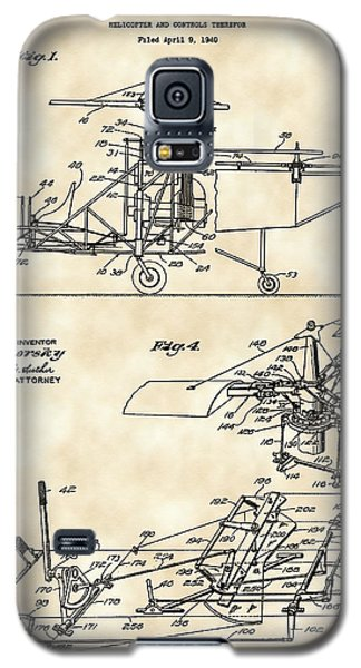 Helicopter Galaxy S5 Case - Helicopter Patent 1940 - Vintage by Stephen Younts
