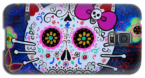Kitty Day Of The Dead Galaxy S5 Case by Pristine Cartera Turkus