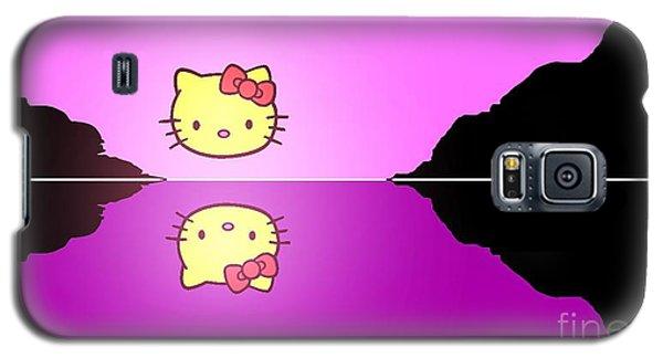 Hello Kitty Sunrise Galaxy S5 Case by George Pedro