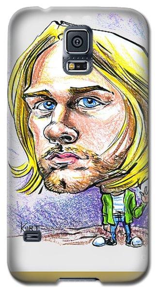 Galaxy S5 Case featuring the drawing Hello Kurt by John Ashton Golden