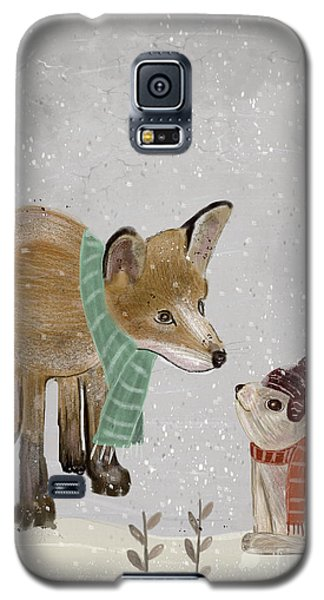 Galaxy S5 Case featuring the painting Hello Mr Fox by Bri B