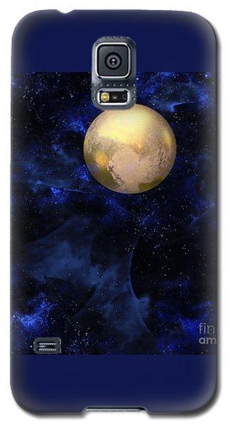 Galaxy S5 Case featuring the digital art Hello Pluto by Klara Acel