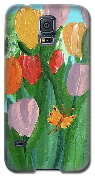 Hello Spring Tulips Galaxy S5 Case