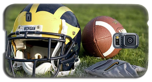 Helmet On The Field With Football And Gloves Galaxy S5 Case