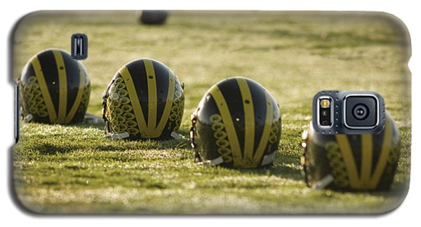 Helmets On Dew-covered Field At Dawn Galaxy S5 Case