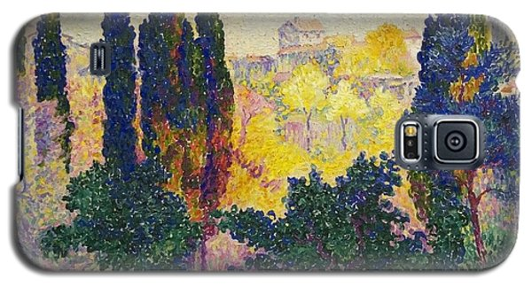 Henri Edmond Cross French Les Cypres A Cagnes Galaxy S5 Case